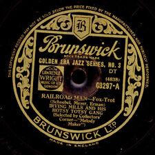 IRVING MILLS & HIS HOTSY TOTSY GANG Railroad Man/ Crazy 'bout my Gal 78rpm X3114