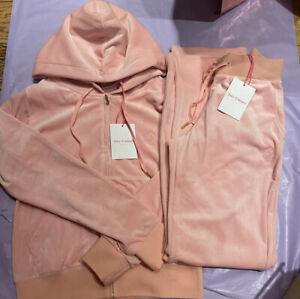 Juicy Couture Velour Juicy Pink Tracksuit Set Size M