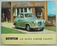 AUSTIN A30 SEVEN 4 DOOR SALOON Car Sales Brochure c1955 #850/D