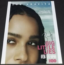 ZOE KRAVITZ SIGNED 11X14 PHOTO BIG LITTLE LIES X-MEN MAD MAX IN PERSON AUTO