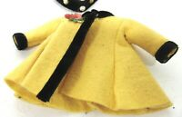 VOGUE GINNY VINTAGE 1956 #6186 YELLOW FELT COAT BLACK HAT HEAD BAND BLACK TAG