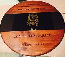 Artisan Lazy Susan 2nd Growth Ducru Beaucaillou Wine Panel 17'' w/Bearing