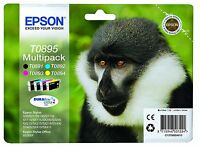 Epson SET OF 4 T0895 ORIGINAL INK CARTRIDGES T0891 T0892 T0893 T0894 BLACK & COL