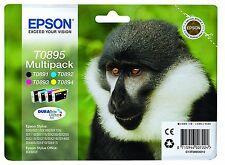 Epson Lot de 4 T0895 Original Cartouches D'encre T0891 T0892 T0893 T0894 Noir & Col
