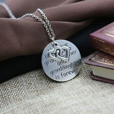 Choker Jewelry Alloy Round Carved Letters Grandmother Pendant Necklace