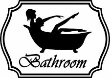 Badezimmer Lustig Aufkleber Sign-tür Bade Toilette Dusche WC Whirlpool Girl