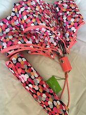 Vera Bradley Umbrella Pixie Blooms Confetti ~ Pink Coral NWT ~ Compact/Folding