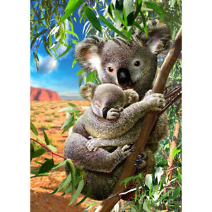 Cute Koala 5D DIY Full Round Drill Diamond Painting Art Mosaic Kits (B982)