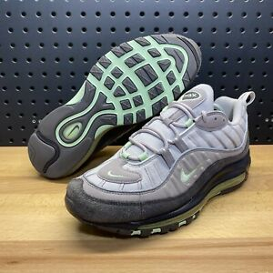 Nike Air Max 98 AM98 Vast Grey Mint Neon Green Shoes 640744 011 Men's Size 9