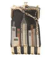 WHITING & DAVIS NEW YORK Skyline Mesh SWAROVSKI CRYSTALS Flapper Crossbody Bag