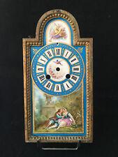 Plaque Bronze et Porcelaine Sèvres ? XIX Horloge Pendule 19 ème Peinture