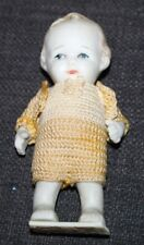 Miniature Bisque Boy Doll Japan Crocheted Outfit