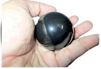 Jet Black Agate 45 - 50 mm Ball Sphere Gemstone A+ Hand Carved Crystal Altar