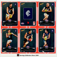 2012 Select AFL Champions Silver Laser Stickers Card Team Set Carlton (12)