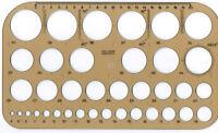 Schablone Kreis Kreisschablone 4 - 40mm Zeichenschablone Lochkreisschablone