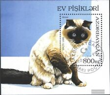 Aserbaidschan Block18 (kompl.Ausg.) gestempelt 1995 Katzenrassen