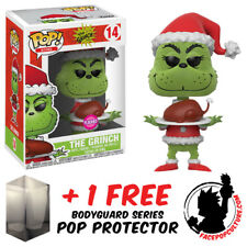 FUNKO POP DR SEUSS THE GRINCH ROAST BEAST FLOCKED EXCLUSIVE + FREE POP PROTECTOR