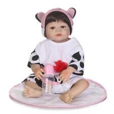 Full Body Silicone Baby Reborn Newborn Doll Anatomically Correct Girl Toy 23Inch
