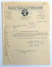India 1940 illustrated letterhead STANDARD TELEPHONES & CABLES Calcutta