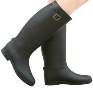 Women's Waterproof Rubber Boots Mid Calf Boot Fashion Rain Boots Warm New Shoes