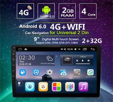 Android 6.0 de 9 pulgadas doble 2Din de cuatro núcleos de radio estéreo de coche GPS WIFI 4G Enlace Espejo