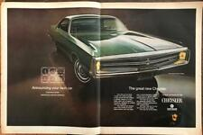 ORIGINAL 1968 PRINT AD for the 1969 Chrysler 300 Two-Door Hardtop ~ Centerfold