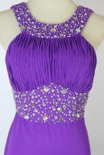 NWT Blondie Nites NEW $200 Prom Formal Dress size 5 Purple Cruise Long Halter