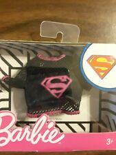 Barbie Dc Comics Supergirl Fashion Black Mesh Top-New In Box-Mattel!