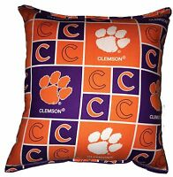 Clemson NCAA Pillow Tigers Pillow Handmade In USA