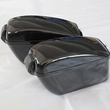 Large Hard Saddle Bag Motorcycle Trunk For Harley Sportster Softail Fatboy LW