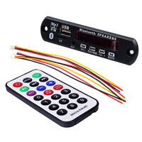12V Bluetooth MP3 WMA FM AUX Decoder Modul Audio TF SD Card USB Radio Auto
