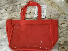 Red Canvas Ita Bag Zipper Clear Front Tote Anime