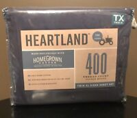Heartland Homegrown & Trade:  Sateen Twin XL Sheet Set in Blue Jean (NEW)