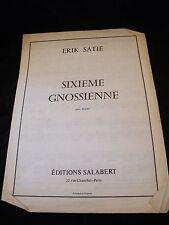 Partition Sixième Gnossienne Erik Satie Grand Format