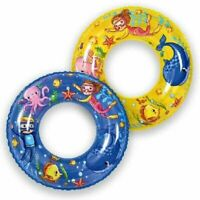 "60cm Kids Inflatable Swim Ring SEA WORLD 6-10 Years Garden Play Holiday Fun 24"""