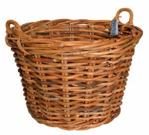 Super Size Log Basket Honey Rustic Rattan Stunning Logs Fireside Country Baskets