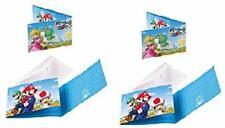 Mgs33 Lot de - 16 Cartons d'invitations Nintendo avec enveloppes Super Mario, po