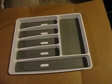 "Madesmart Six Compartment White Cutlery Tray for  DRAWER 15.8"" L x 12.75"" W"