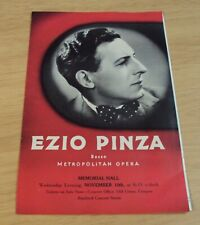 "1937 Playbill/Program~""Ez io Pinza"" Metropolitan Opera Singer~Stanford Concert~"