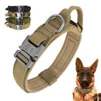 K9 Tactical Dog Collar Nylon Adjustable Military Large Dog Collar with Handle