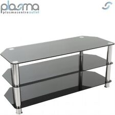 "AVF Universal Black and Chrome TV Stand For up to 50"" TVs"