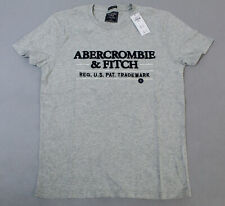 Abercrombie & Fitch Men's Short-Sleeve Embroidered Logo Tee CD4 Gray Small NWT