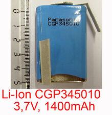LIION LI-ION BATTERIE CGP345010 ELEMENT SHARP PC-A150 PC-A250 PC-A280 AKKU ACCU