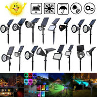 LED Solar Powered Garden Lamp Spot Light Outdoor Lawn Landscape Path Spotlight