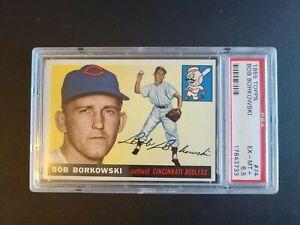 1955 Topps Bob Borkowski #74 PSA 6.5 EX-MT+