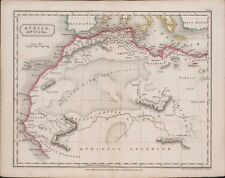 "c.1827 ""Africa Antiqua"" Map drawn and engraved by Sidney Hall 27 x 21 cm  A4.899"