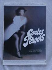 CONTES PERVERS REGINE DEFORGES mini-poster cartonné EDITION NUGERON BON ETAT