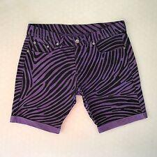 Super Rare Jeremy Scott x Ksubi (Tsubi) 2006 'Fingerprint' Purple Denim Shorts