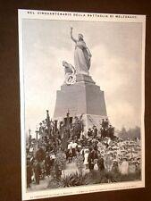 13 giugno 1909 Per i 50 anni della Battaglia di Melegnano Commemorazione Ossario