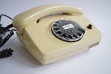 70er Vintage Post Telefon FeTAp Wählscheibentelefon Retro beige 70s